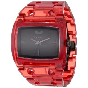 ベスタル 時計 レディース 腕時計 Vestal Women's DESP026 Destroyer Plastic Translucent Red Watch