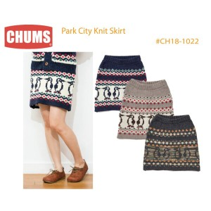 【CHUMS チャムス】CH18-1022<Park City Knit Skirt パークシティニットスカート>※取り寄せ品