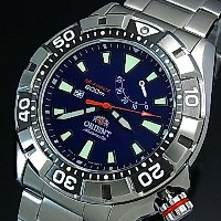 ORIENT/M-FORCE 200m【オリエント/エムフォース】DIVER'S/ダイバーズウォッチ メンズ腕時計 自動巻 パワーリザーブ ネイビー文字盤 メタルベルト MADE IN JAPAN...