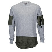 サウスポール メンズ トップス ジャージ【Southpole Thermal Scallop Long Sleeve T-Shirt】Heather Grey