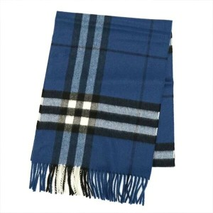 BURBERRY バーバリー マフラー BL 3994181 GIANT CHECK CASHMERE SCARF 168X30CM CADET BLUE カデットブルー カシミヤ100% チェック...