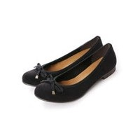 【SALE 30%OFF】ジェリービーンズ JELLY BEANS リボンフラットバレエ 123-3943 (黒S)