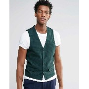 ASOS エイソス Vest In Green Check
