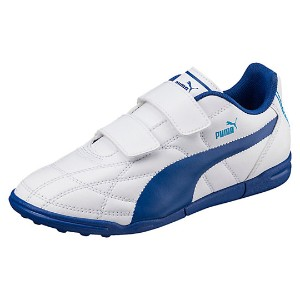 プーマ クラシコ TT V Jr ユニセックス Puma White-TRUE BLUE-BLUE DANUBE