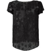 Saint Laurent star embroidered top
