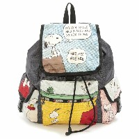 LeSportsac 7839-P697 PEANUTS IT'S FUN/スヌーピーイッツファン Voyager Backpack(ボヤージャーバックパック)リュックサック/...