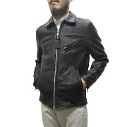 VANSON(バンソン)【MADE IN U.S.A】 ENFIELD SLIMFIT LEATHER JACKET(アメリカ製 エンフィールド スリムフィット レザージャケット) SOFT COW...