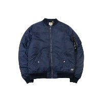 ●Carhartt WIP ASHTON BOMBER JACKET (NAVY/BLACK)カーハート/MA-1ジャケット/紺×黒