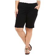 Jag Jeans パンツ Plus Size Plus Size Ainsley Classic Fit Bermuda in Black Bay Twill