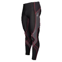 CW-X メンズ ランニング ウェア タイツ【CW-X Insulator Stabilyx Tights】Black/Grey/Red