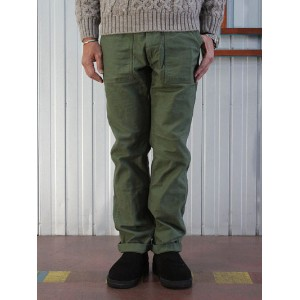 orslow orslow オアスロウ 01-5032-16 US ARMY SLIM FIT FATIGUEパンツ オリジナルバックサテン生地 グリーン Made in Japan 送料無料