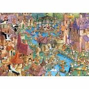 HEYE Puzzle・ヘイパズル 29496 François Ruyer : Bunnytown 1000ピース