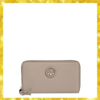 Leather Zip Around Continental Wallet French Gray Tory Burch(トリーバーチ) バイマ BUYMA