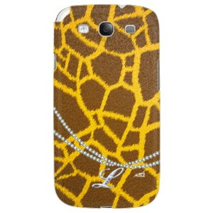 【送料無料】 キリン柄イニシャル-L design by ARTWORK / for GALAXY S III SC-06D/docomo 【Coverfull】galaxy s3 ケース...