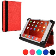 Cooper Cases (TM) Infinite ユニバーサル 7 - 8インチSony Xperia Z3 Tablet Compactタブレットフォリオケース(レッド)(様々なタブレットで使用...