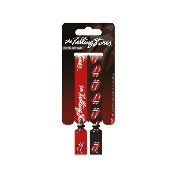 The Rolling Stones Wristbands Tongue Logo 公式 新しい 2 x Fabric Strap Festival