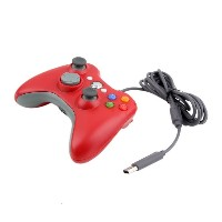 ICOCO USB ゲームコントローラー 有線 Xbox/Windows対応 Xbox360 Controller for Windows (レッド)