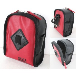 Pearl ×Skull Music Records bag SMR-022 スティックホルダー付ポーチ (RED)