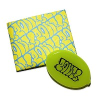 """LIXTICK PAPER WALLET (ペーパーウォレット) """"THROW UP"""" by ZENONE 【限定コインケースセット】 (NEON YELLOW × BLUE)"""