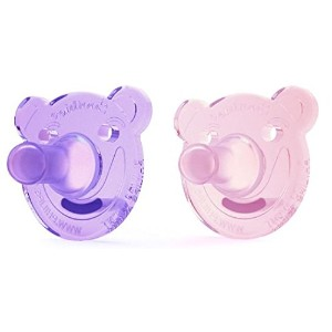 Philips AVENT Bear Shape Pacifier, 0-3ヶ月, 2 Count (ピンク&パープル)
