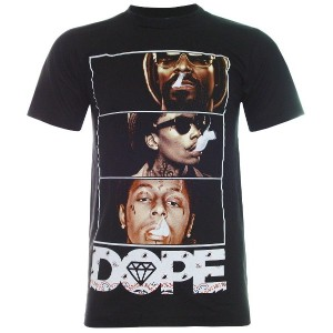 (パラス)PALLAS All Star DOPE Hip Hop T-Shirt (TN058) (L, Black)