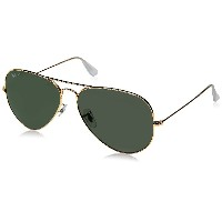 Ray Ban RB 3025 001/58 Gold w/ Green Polarized Aviator Sunglasses 62mm