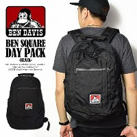 (ベンデイビス)BEN DAVIS公式 BEN SQUARE DAY PACK -BLACK- FREE