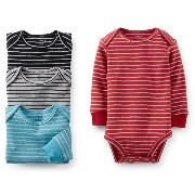 Carter's (カーターズ) :: ロンパース ボディスーツ 長袖 4枚組 綿100% :: 4-Pack Long-Sleeve Bodysuits :: NB (50-55cm) :: 3...