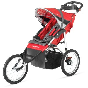 ベビーカー・バギー Schwinn Arrow Double Jogger Stroller, Red/Black ジョギングにも最適!