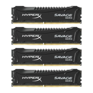 キングストン Kingston デスクトップ PCメモリ DDR4-2800 (PC4-22400) 4GB×4枚 HyperX Savage Black CL14 1.35V Non-ECC...