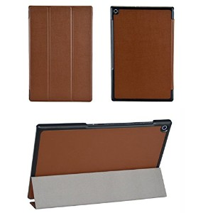 SP-MART(オリジナル)SONY Xperia Tablet Z2 ケース オートスリープ機能 PU Leather Case esd3006_55 (Brown)