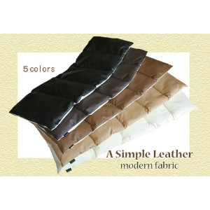 """A Simple Leather"" 『わた入り』フリークッション【Modern Fabric】【色:ダークブラウン】"