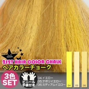 [2S2T HAIR COLOR CHALK] ヘアチョーク 3色セット(#04,#05,#06)
