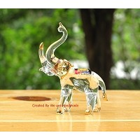 Handmade Elephant Art Glass Blown Wild Animal Figurine - No.2 by We Are Handmade Figurine Art Glass...