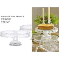 "[DULTON]ダルトン Glass Round cake stand ""Revres"" S S215-34S"