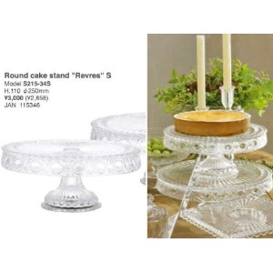 """[DULTON]ダルトン Glass Round cake stand """"Revres"""" S S215-34S"""