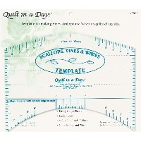 "Quilt In A Day Scallops, Vines & Waves Template-9""X7"" (並行輸入品)"