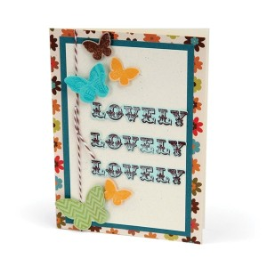 Sizzix Framelits Dies 5/Pkg W/Stamps By Hampton Art-Simply Lovely (並行輸入品)