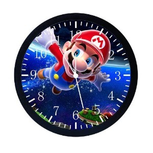 "Huge X-large Size 14"" Super Mario Bros Wall Clock Decor W04 by Sharp [並行輸入品]"