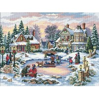 "Gold Collection A Treasured Time Counted Cross Stitch Kit-16""X12"" 16 Count (並行輸入品)"
