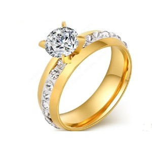 18K Gold Plated Cubic Zirconia Top Quality Ring For Women (18)