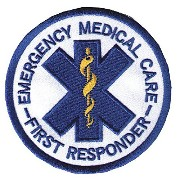 Star of Life EMC - 1st Responder ラウンドワッペン