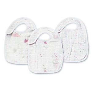 aden + anais Lovely Nibble Snap Bibs (Pack Of 3) by aden + anais