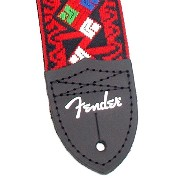 Fender Eric Johnson Rat Pack Signature Strap Red with Multi-Colored Pattern ギターストラップ