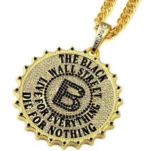 MCSAYS ヒップホップ ファッション hiphop ネックレス Mens Gold Plated Gear Round Card Big B Pendant Necklace Star Hip...