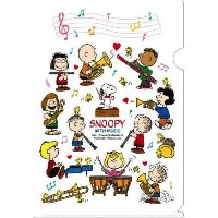 SNOOPY WITH MUSIC BAND COLLECTION スヌーピー メモリング ファイル 5枚セット (ホワイト)