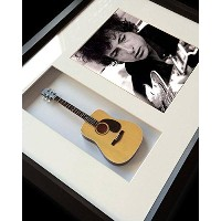 ノーベル賞受賞 BOB DYLAN - Mini Guitar Framed Shadow Box/ ギター/