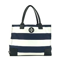 【TORY BURCH】トリーバーチ トートバッグ 『PACKABLE PRINTED ELLA TOTE』 [12169784-16412/NAVY BAR STRIPE] [並行輸入品]