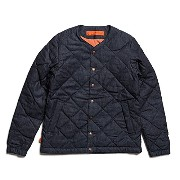 (ゴーウエスト)GOWEST QUILT DOWN JACKET/6oz DENIM×DOWN/RIGID DENIM (メンズ)サイズ3(L)