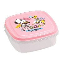 T-WORLD SNOOPY フードキーパー角型 スイーツ ピンク 6350